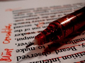 editing red pen